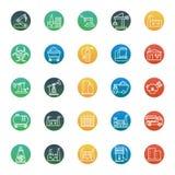 Industrielle lokalisierte Vektor-Ikonen, die leicht geändert werden oder redigieren können lizenzfreie abbildung