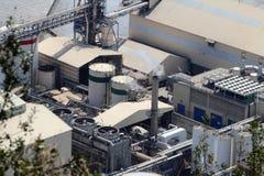 Industrielle Maschine, Fabrik-Hintergrund, Rauch Stockfotografie