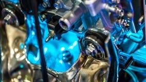 Industrielle mechanische Motorteile und System lizenzfreie stockfotos