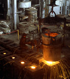 Industrielle Metallurgie Stockbild