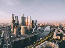 Industrielle moderne Moskau-Landschaft lizenzfreies stockfoto