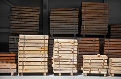 Industrielle Paletten Lizenzfreie Stockbilder
