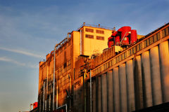 Industrielle Produktionsanlage Stockbild