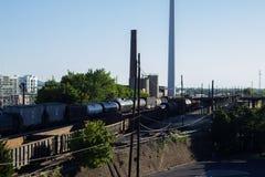 Industrielle Railcars Lizenzfreies Stockbild