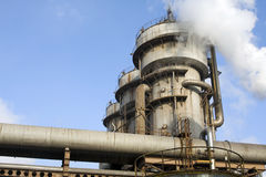 Industrielle Rohre stockbild