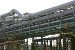 Industrielle Rohrleitung Stockfotografie