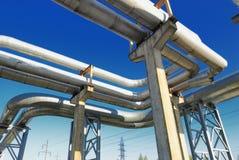 Industrielle Rohrleitungen Stockfoto