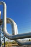 Industrielle Rohrleitungen Stockbilder