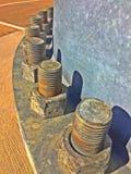 Industrielle Schrauben Lizenzfreies Stockfoto