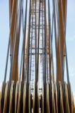 Industrielle Seilrolle stockbilder