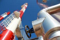 Industrielle Silos - Triebwerkanlage Stockbilder