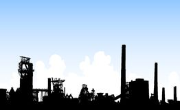 Industrielle Skyline Stockfoto