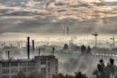 Industrielle Stadt - Moonscape Lizenzfreie Stockfotos