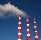 Industrielle Stapel Stockfoto