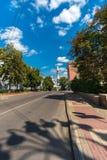 Industrielle Straße in Kursk stockbilder