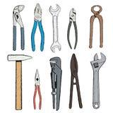 Industrielle tools Auf lagerabbildung Lizenzfreie Stockbilder