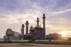 Industrielle Triebwerkanlage Stockfoto