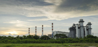 Industrielle Triebwerkanlage Lizenzfreies Stockbild