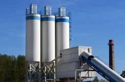 Industrielle Triebwerkanlage in Lettland Lizenzfreie Stockbilder