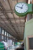 Industrielle Uhr stockbild