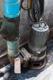 Industrielle versenkbare Wasserpumpe Stockfotos