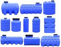 Industrielle Vorratsbehälter für Flüssigkeiten Stockfotos