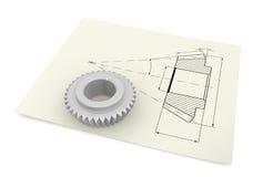 Industrielle Zeichnung Stockfoto