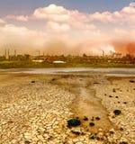 Industrielle Zerstörung Stockbild