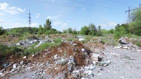 Industrieller Abfall in der Masse stock footage