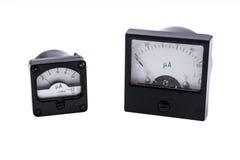 Industrieller analoger Amperemeter Lizenzfreie Stockbilder