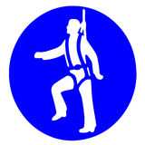 Industrieller Bergsteiger lizenzfreie abbildung
