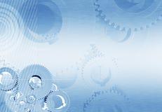Industrieller blauer Hintergrund Stockbilder