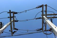 Industrieller elektrischer Hintergrund stockbild