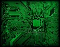 Industrieller elektronischer grüner Hintergrund lizenzfreie stockbilder