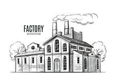 Industrieller Fabrikvektor Lizenzfreie Stockfotografie