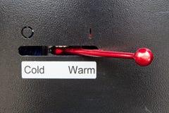 Hebel für kaltes oder warmes Stockbilder