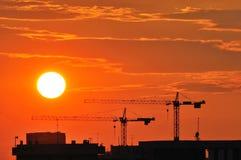 Industrieller Himmel Stockfotografie
