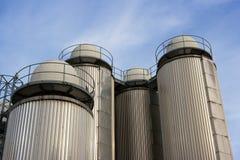 Industrieller Himmel Lizenzfreies Stockfoto