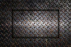 Industrieller Hintergrund der Metalldiamantplatten-Zusammenfassung Stockfoto