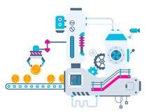 industrieller Illustrationshintergrund der Fabrik für SOR lizenzfreie abbildung