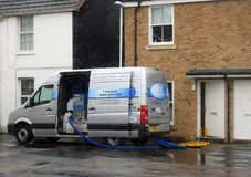 Industrieller inländischer Teppichreinigungspackwagen lizenzfreies stockfoto