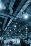 Industrieller Innenhintergrund Stockfoto