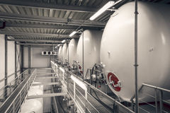 Industrieller Innenraum Stockbild