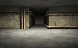 Industrieller Kellerhintergrund Stockbilder