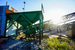 Industrieller Kies-Steinbruch Stockbild