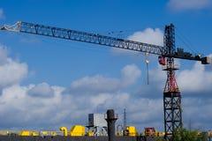 Industrieller Kran Stockfoto