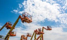 Industrieller Mann-Aufzug Lizenzfreies Stockfoto