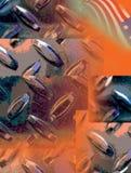Industrieller Markierungsfahnen-Hintergrund Stockfoto