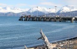 Industrieller Pier im Kachemak Schacht Lizenzfreies Stockbild