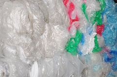 Industrieller Plastikschrott stockbilder
